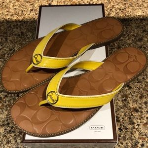 Coach Deney Yellow Sandals